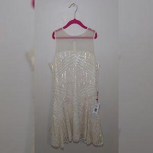 Gorgeous embellished sequin silk parker dress